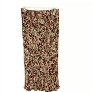 J. Jill Floral Maxi Skirt Size 16